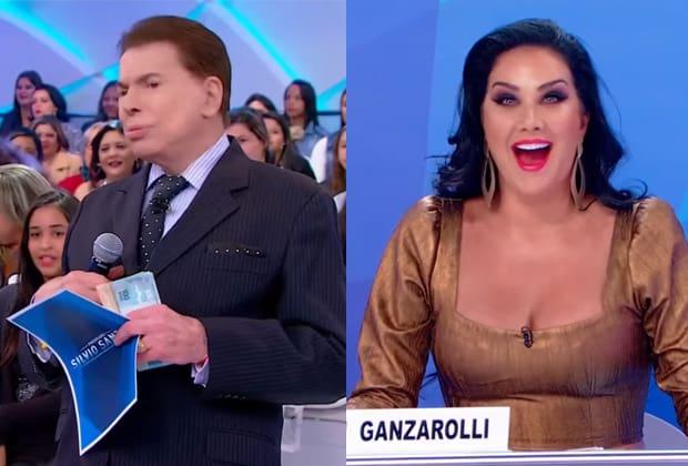 Silvio Santos e Helen Ganzarolli
