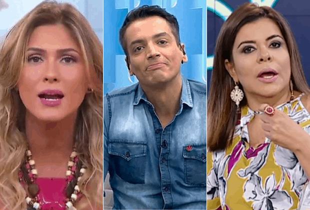 Leo Dias, Lívia Andrade e Mara Maravilha