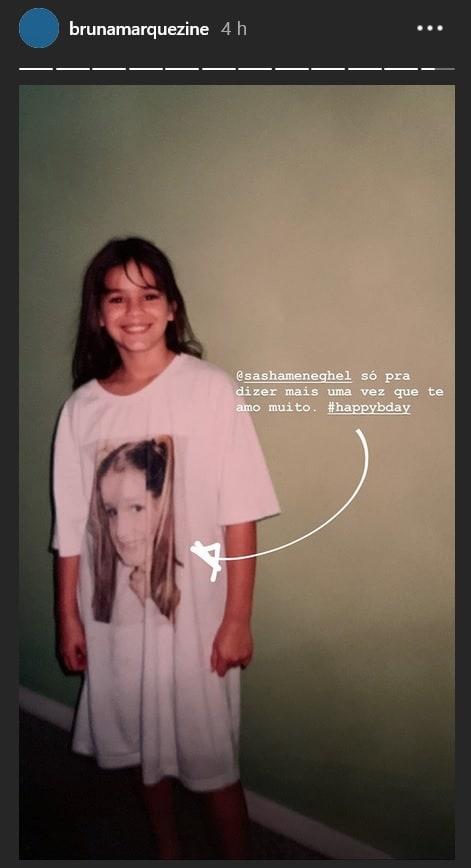 Bruna Marquezine homenageia Sasha de maneira inusitada