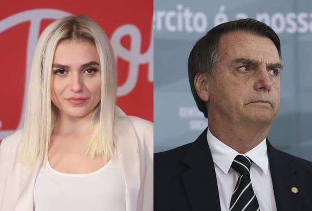 Monica Iozzi e Bolsonaro