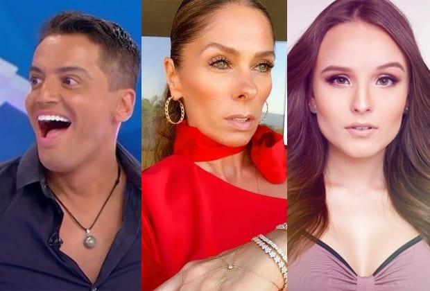 Leo Dias, Adriane Galisteu e Larissa Manoela