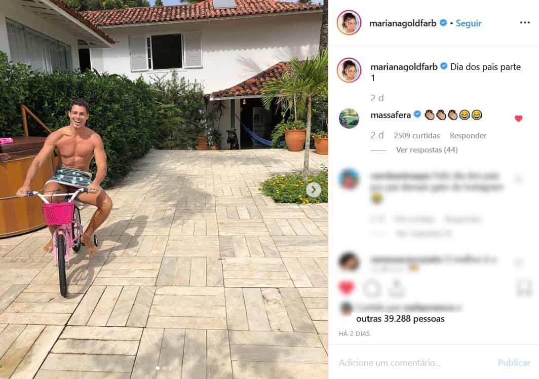 Grazi comenta foto de Cauã e recebe elogios por maturidade