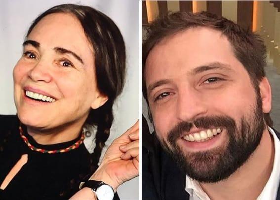 Regina Duarte e Gregorio Duvivier