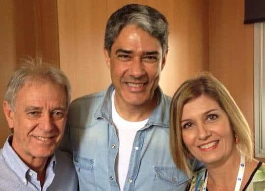 Giácomo Mancini, William Bonner e Patrícia Nobre