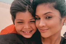 Mileide Mihale e filho Yhudy