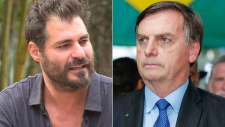 Thiago Lacerda e Jair Bolsonaro