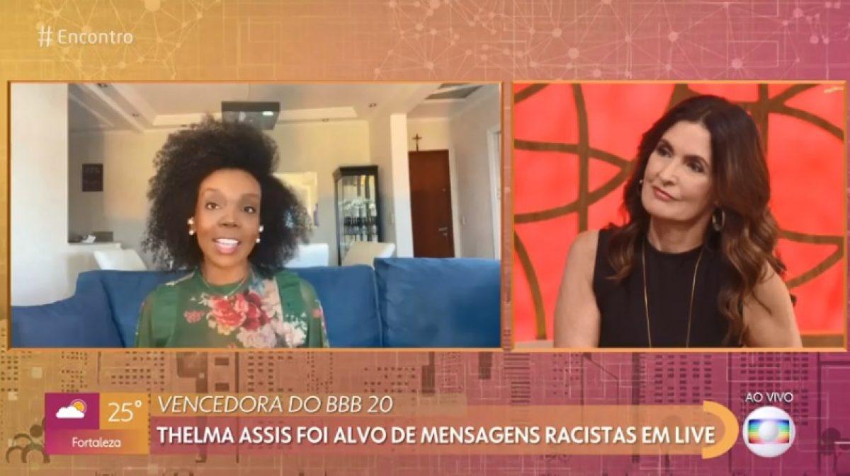 Ao vivo na Globo, Thelma revela ataques racistas em live e ...