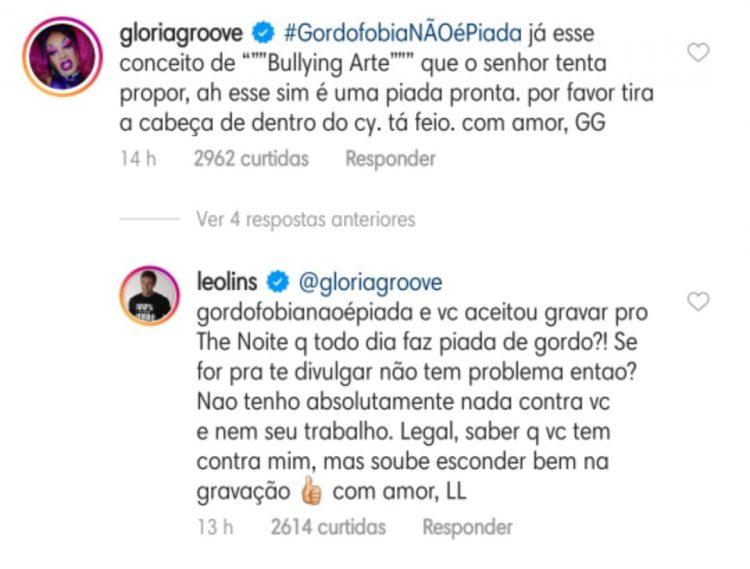 Glória Groove e Leo Lins