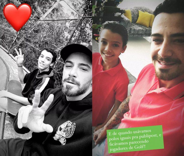 Felipe Titto com o filho Theo