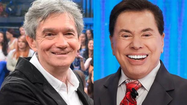 Serginho Groisman e Silvio Santos