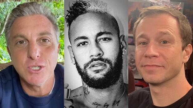 Luciano Huck, Neymar e Tiago Leifert