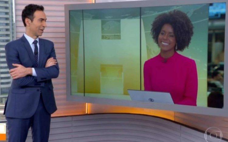 César Tralli e Maju estão na tarde da Globo
