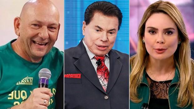 Silvio Santos, Luciano Hang e Rachel Sheherazade,