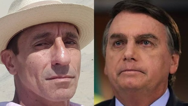 Tuca Andrada e Jair Bolsonaro