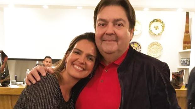 Luciana Cardoso e Fausto Silva