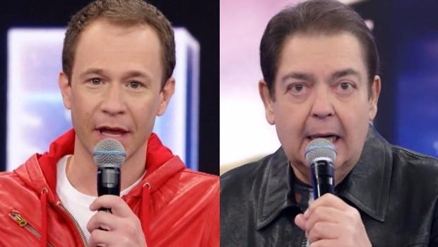 Tiago Leifert e Fausto Silva