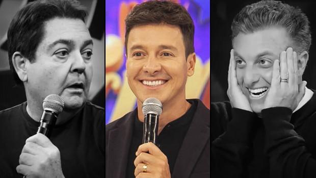 Fausto Silva, Rodrigo Faro e Luciano Huck