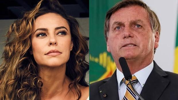 Paolla Oliveira e Jair Bolsonaro