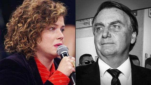 Leandra Leal e Jair Bolsonaro