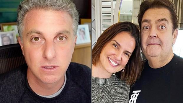 Luciano Huck, Luciana Cardoso e Faustão