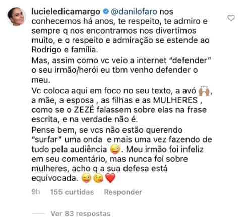 Luciele Di Camargo entra em confusão e reage contra irmão de Rodrigo Faro | RD1
