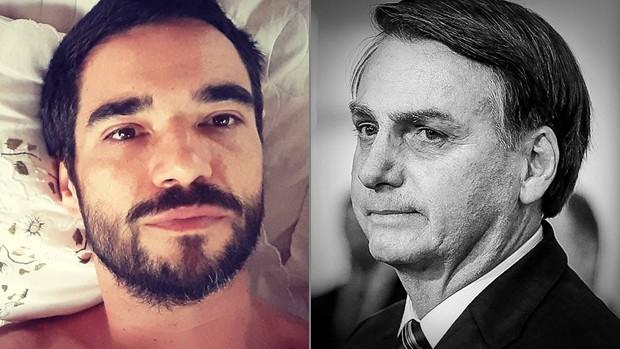 Caio Blat e Jair Bolsonaro