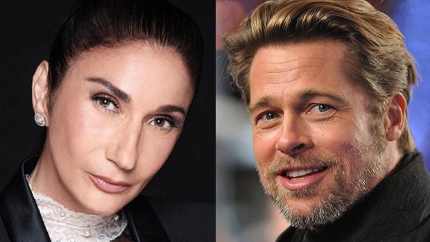 Zizi Possi e Brad Pitt