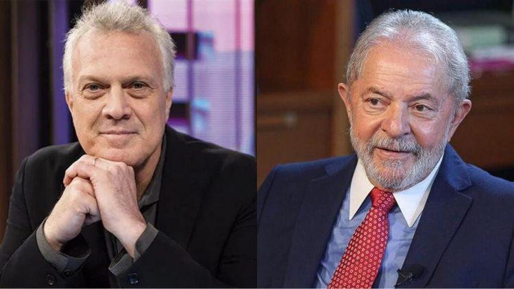 Pedro Bial e Lula