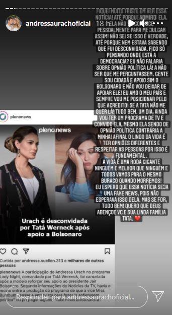 Andressa Urach e Tata Wernick