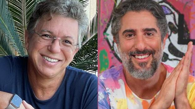 Boninho e Marcos Mion