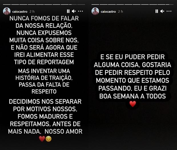 Caio Castro e Grazi Massafera