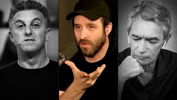 Luciano Huck, Rafinha Bastos e Serginho Groisman