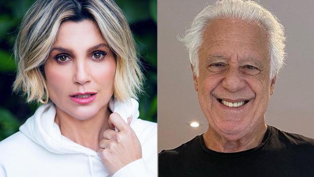 Flávia Alessandra e Antonio Fagundes