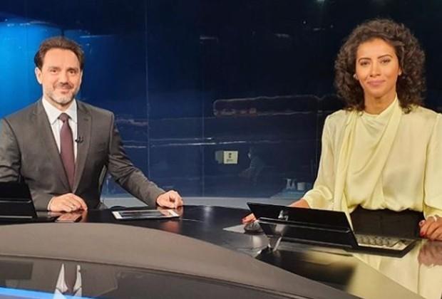 Aline Midlej e Paulo Renato